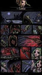 Darkest Dungeon Class Mod-Lamia Comic by JackieTeJackal