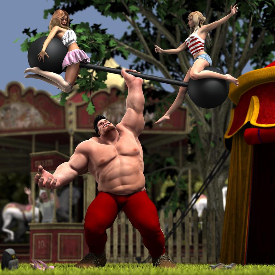 Strongman's Favorite Game by mayaortiz on DeviantArt