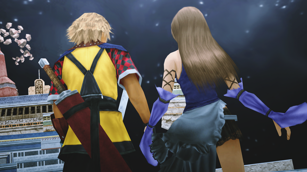 Final Fantasy Lenne And Shuyin [MMD Final Fantasy X-2...