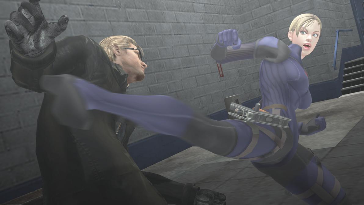 [MMD Resident Evil] - Jill vs Wesker by blackSoul1890