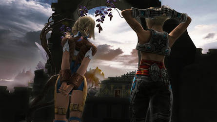 [MMD - Final Fantasy] - Vaan y Panelo by blackSoul1890