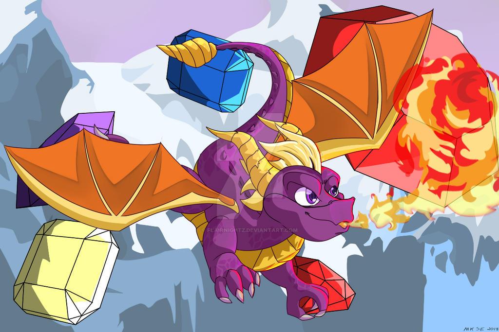 Spyro Fan Art by FlairNightz