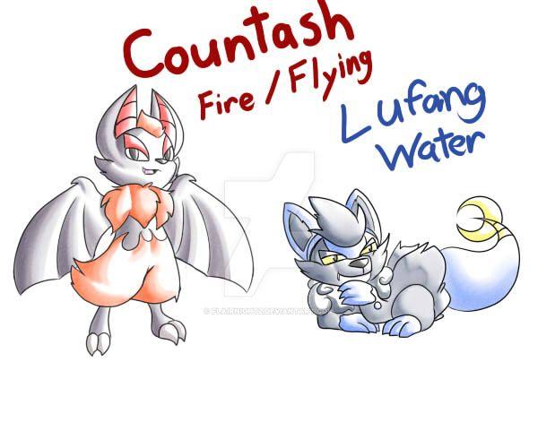 Countash and Lufang Fakemon by FlairNightz