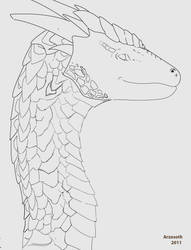 Nameless Dragon Lineart by Arzosoth