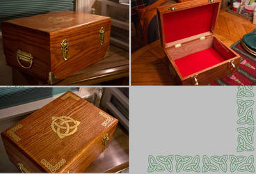 Celtic Wood Chest by Arzosoth
