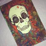 Splatter paint skull