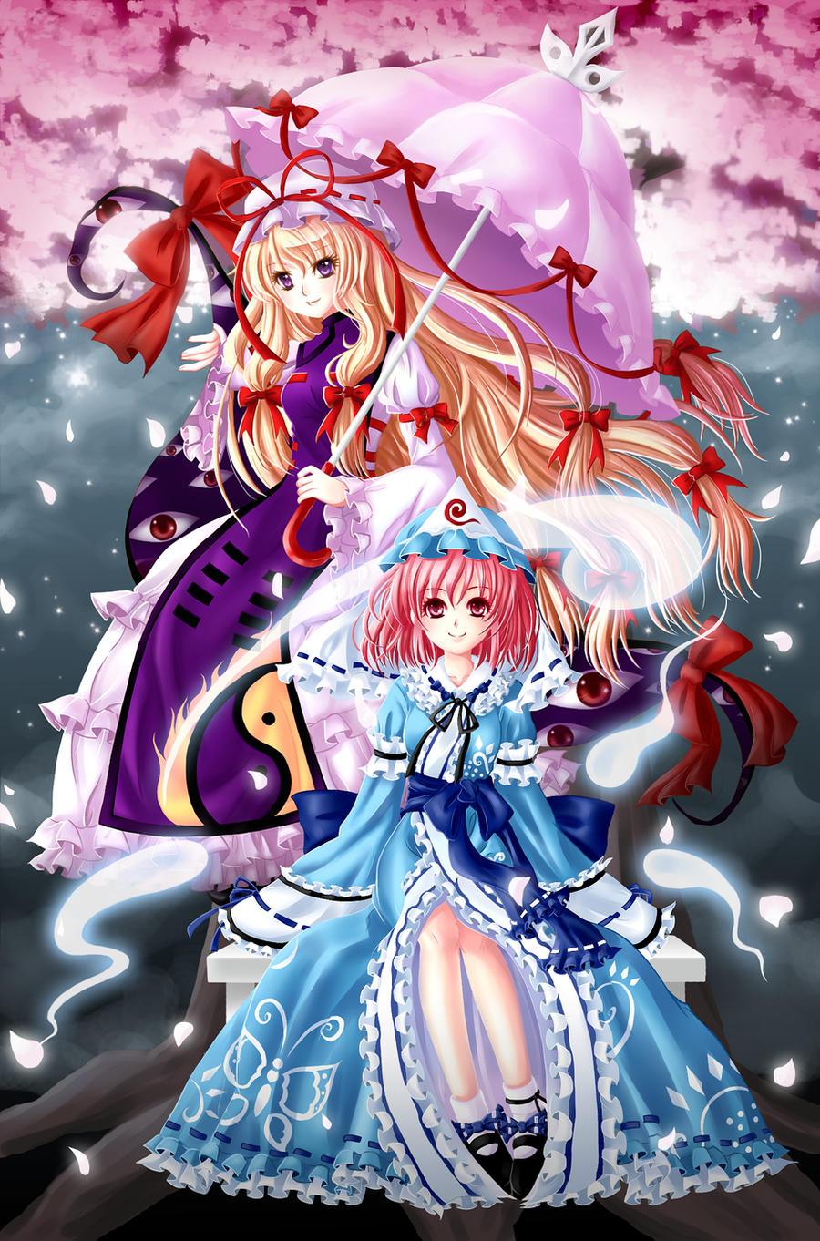 Yukari and Yuyuko by NokaChan