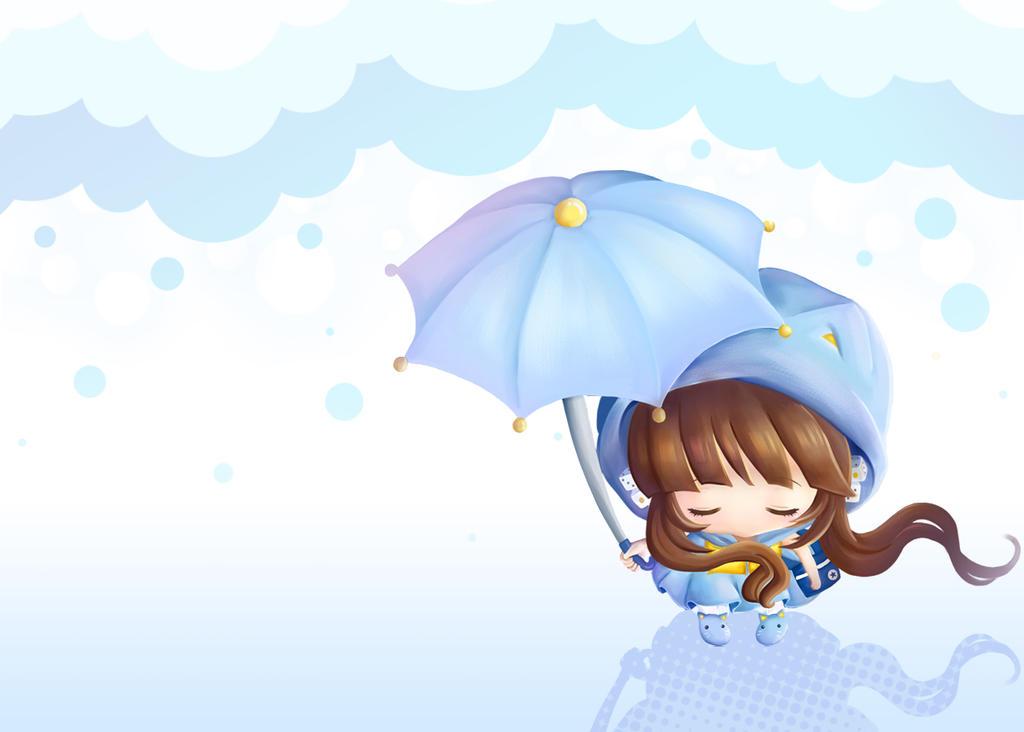 Raining by NokaChan