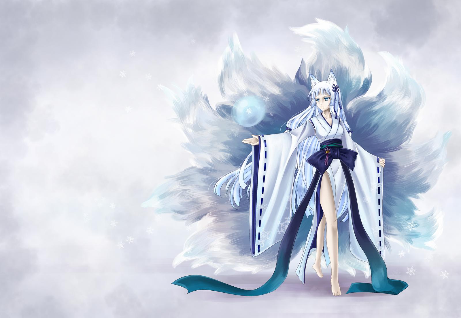 Yuki onna Ahri Blue ver. by Nokapi