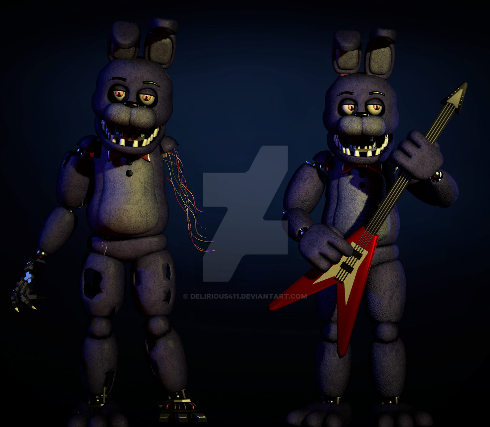 [FNAF SFM] Withered Bonnie V2 (NonCanon) By Delirious411