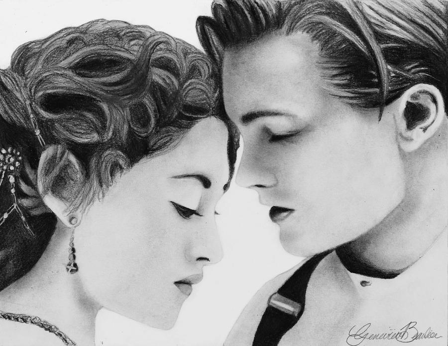 My heart will go on jack and rose in titanic by gennyshelly98 on deviantart - Titanic dessin ...