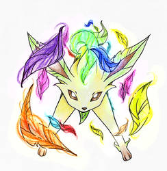 Leafeon using Magical Leaf
