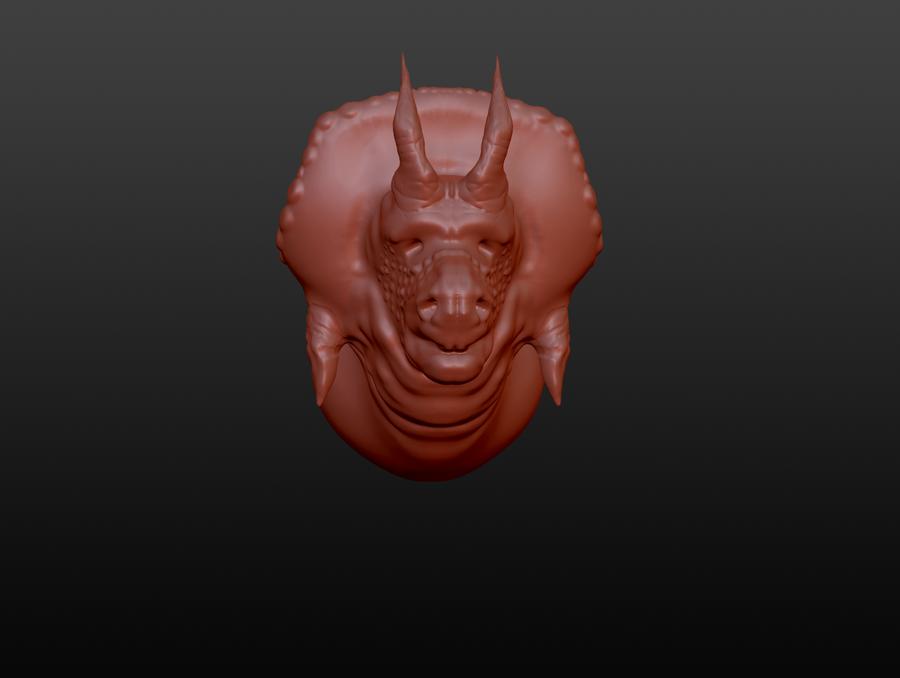 Triceratop face by kaitiakianahera