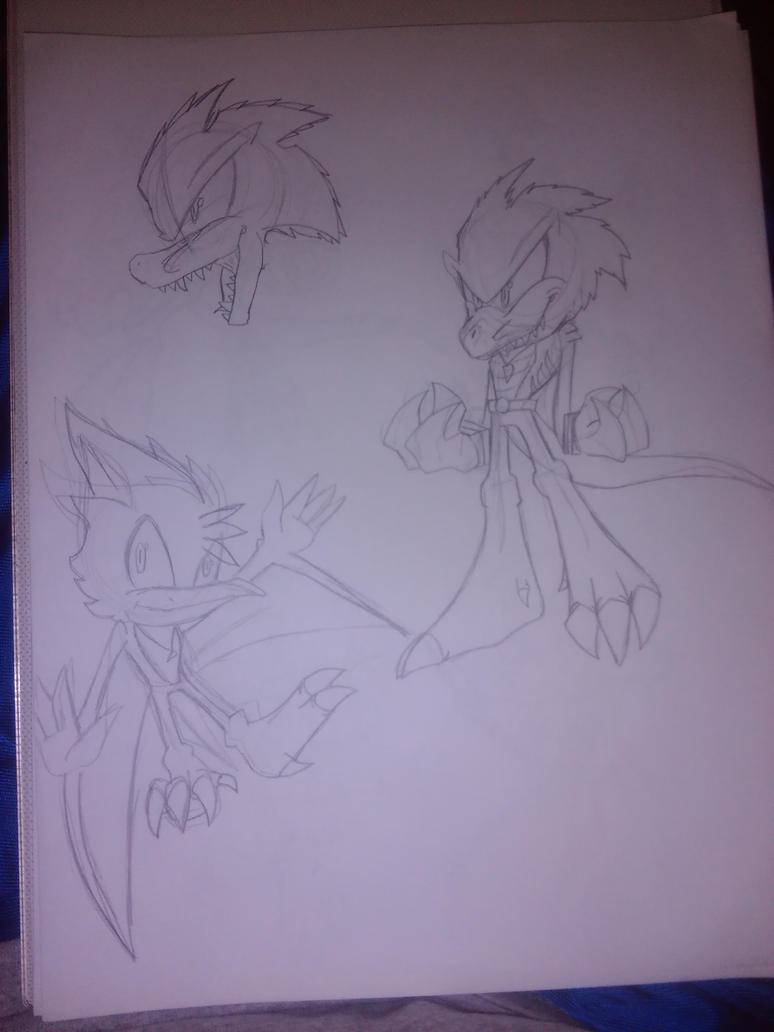 Dinosaur Sonic Heroes 2 by clockworks360