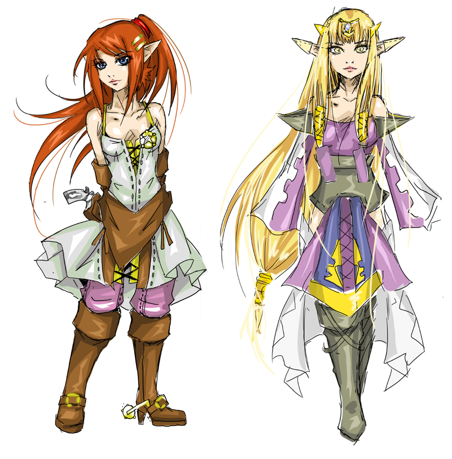 Malon And Zelda by Agacross