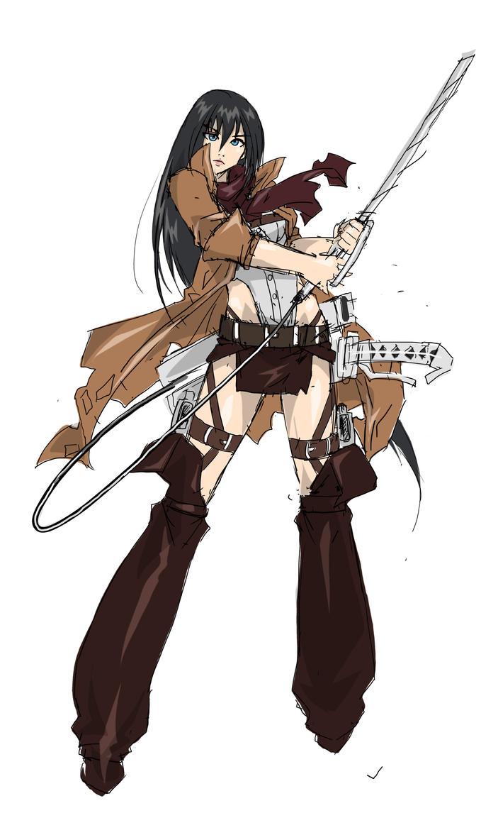 Mikasa Ackerman by Agacross