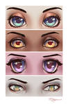 Eyes in different styles