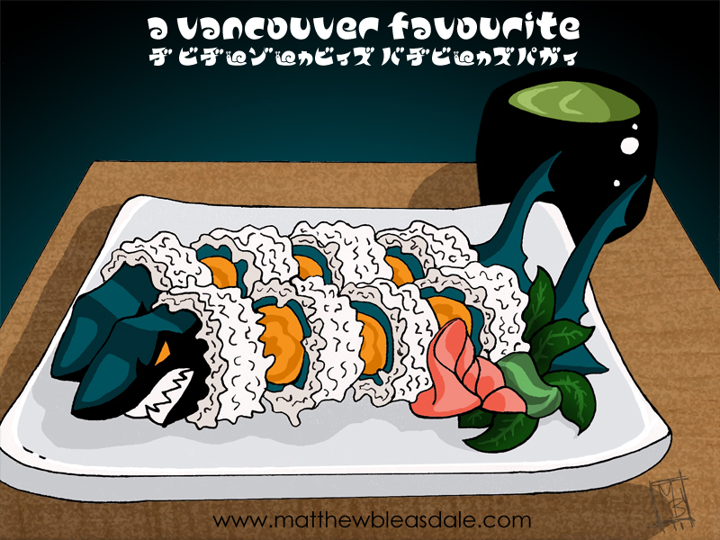 Canucks : San Jose Shark Sushi by Bleezer