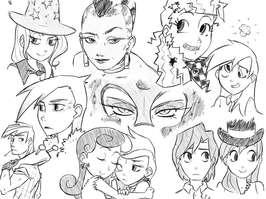 mlp sketches uno by thelivingmachine02 on deviantart