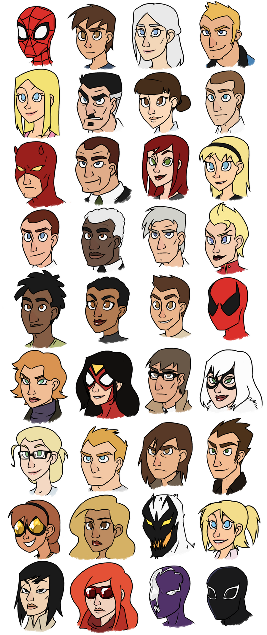 Spider-Man and His Amazing Friends by thelivingmachine02
