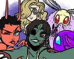 Monster Girl Challenge: Group of Girls