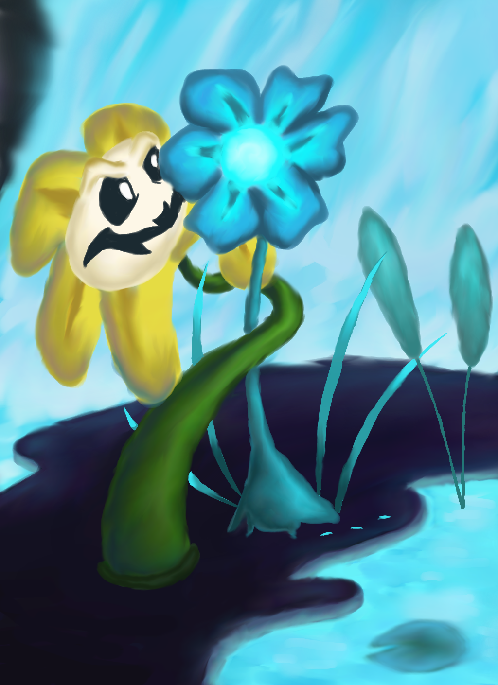 An Echo Flower A Day Keeps A Flowey at Bay by dragnilu on DeviantArt