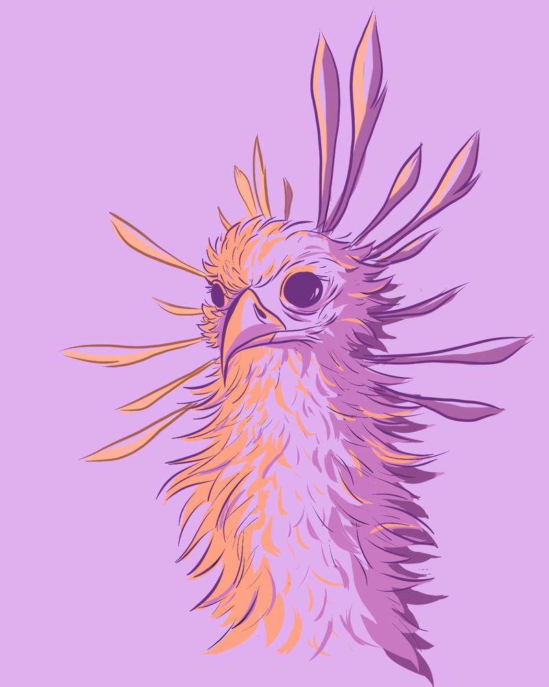 Pretty purple bird by dragnilu