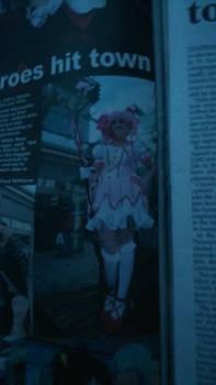 I was in the newspaper yo'