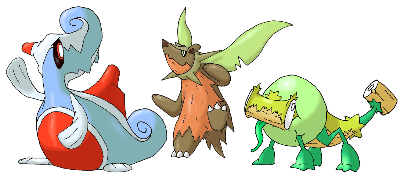 Starter evos by Smiley-Fakemon on DeviantArt