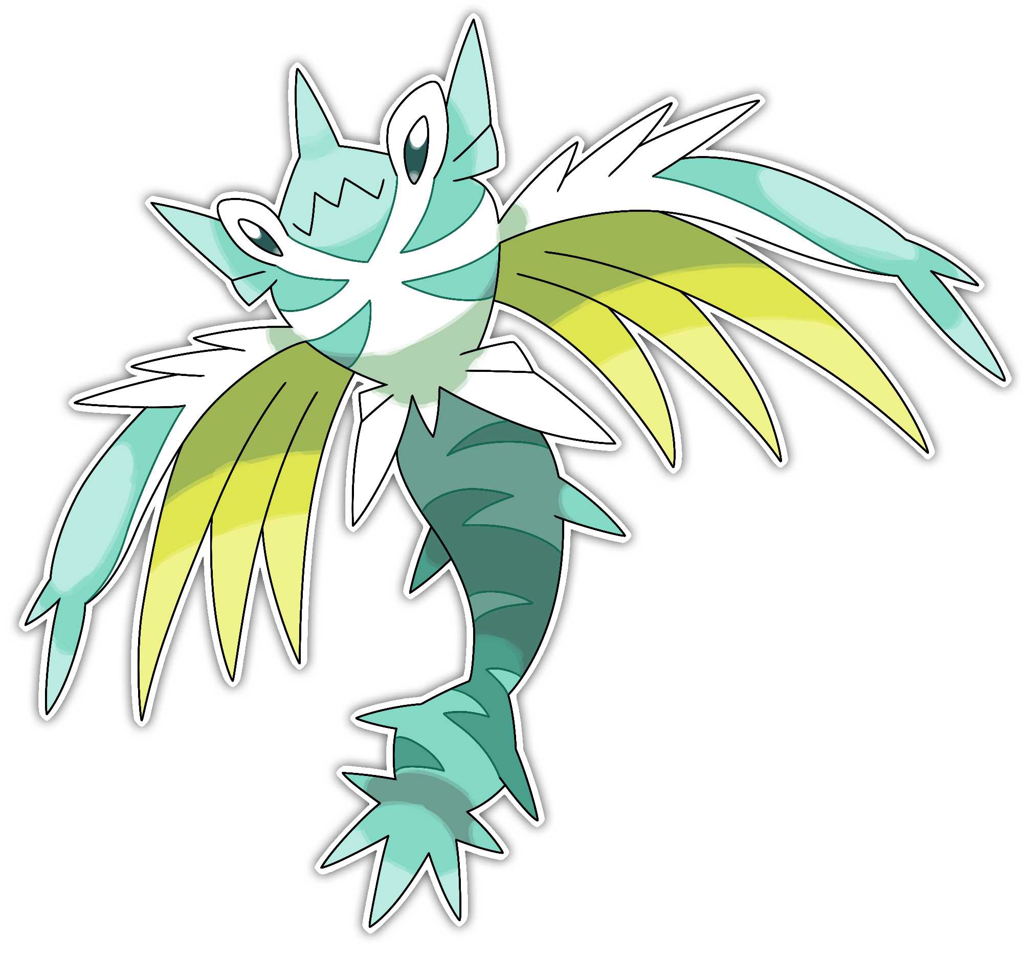 Hydra Dragon Pokemon Hydralge Hydra Fakemon By Smiley Fakemon Dpbpd