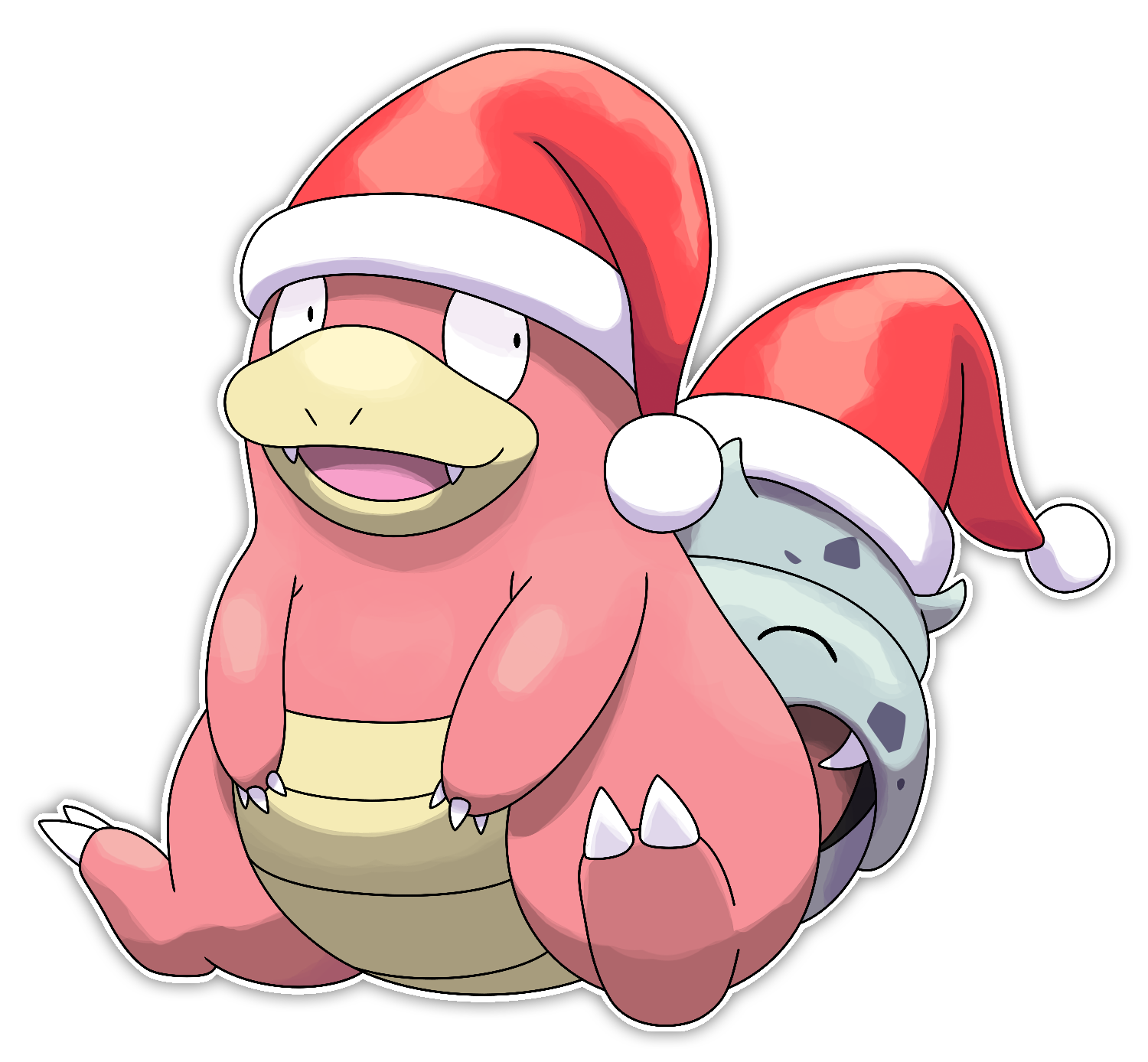 Slowbro - Commission by Smiley-Fakemon on DeviantArt
