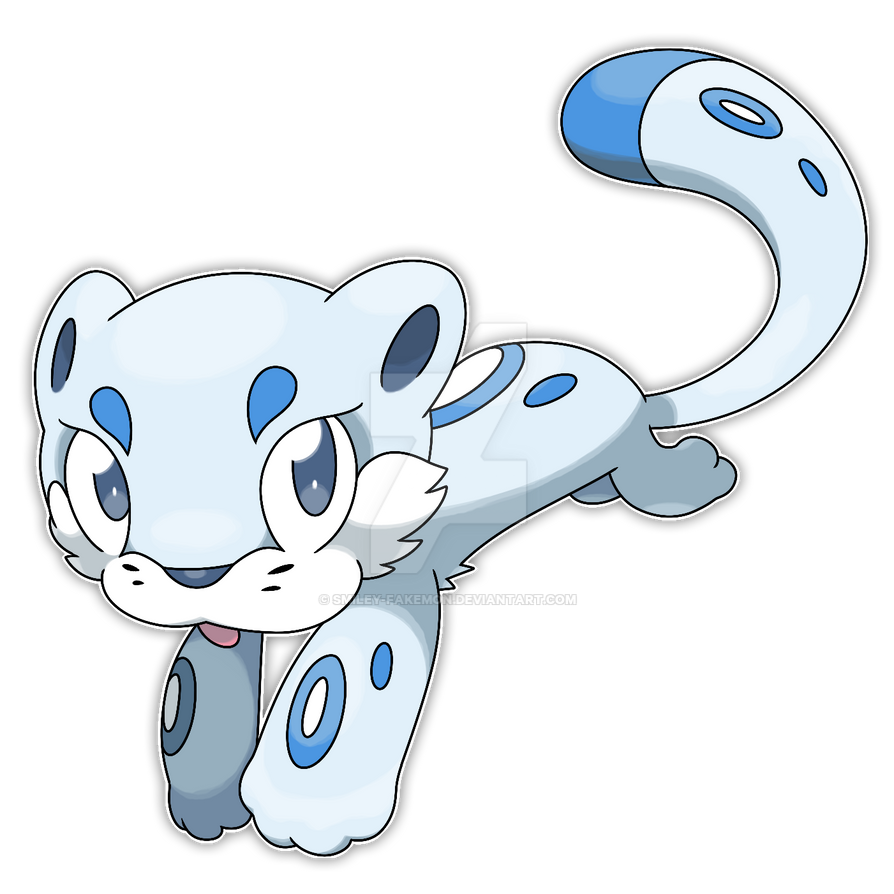 Chilleo, Fresh Snow Fakemon - Commission by Smiley-Fakemon