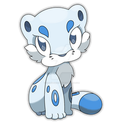 Chilleo, Fresh Snow Fakemon (alternate pose)