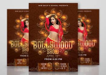 Bollywood Dancing School Show Flyer by n2n44studio