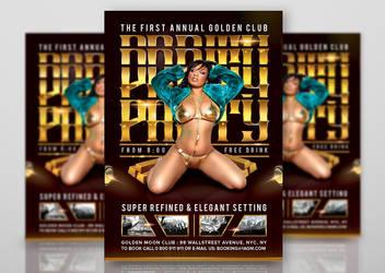 Golden Club Refined Elegant Party by n2n44studio