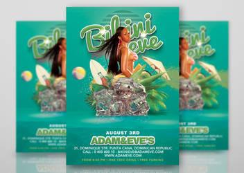 Summer Party Flyer Bikini Eve by n2n44studio