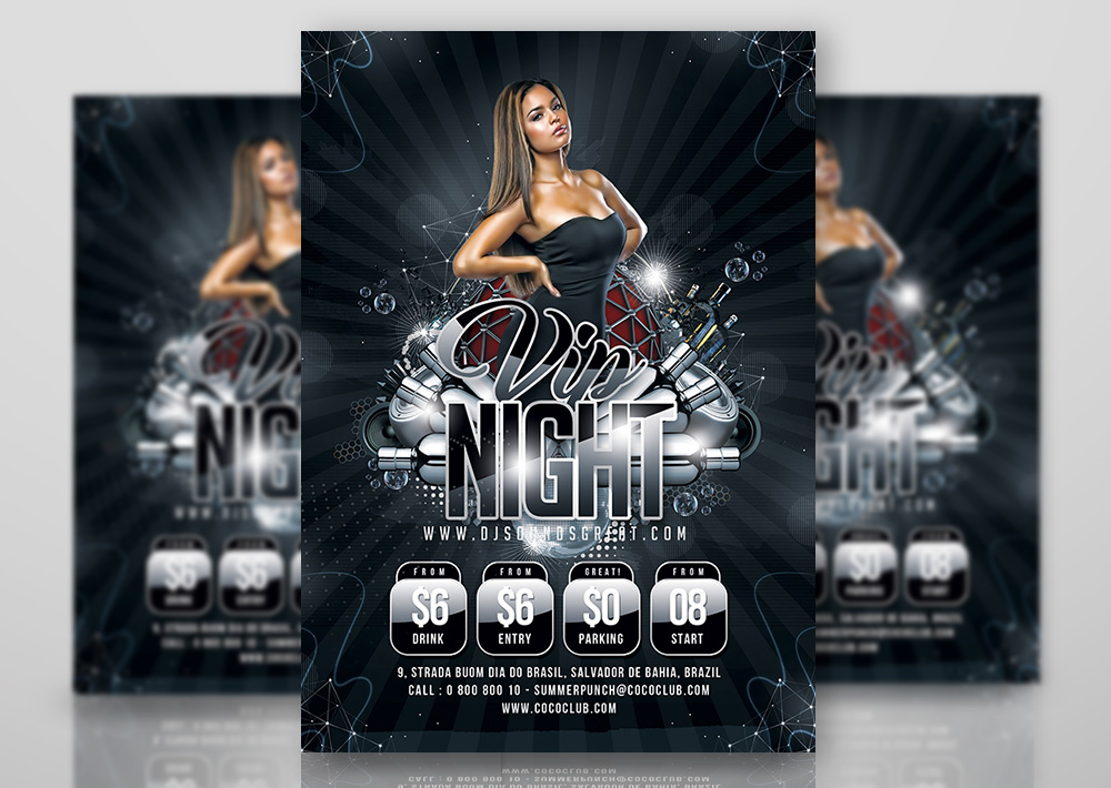 Vip Night Flyer by n2n44studio