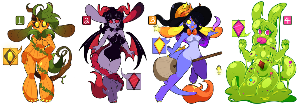 Adoptable Auction: Halloween Dragoons 2 [CLOSED] by QueenAshi