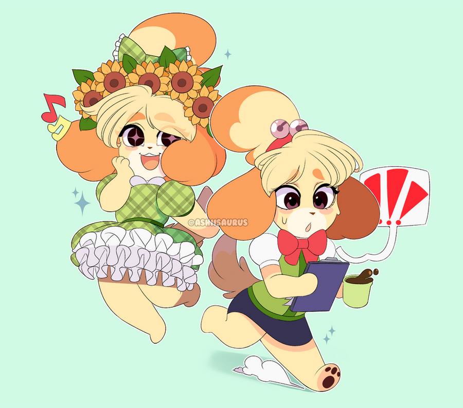 Animal Crossing: Isabelle by QueenAshi on DeviantArt