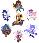 Twitter Chibi Commissions by QueenAshi