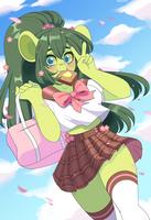 COM: School girl Mayflower by QueenAshi