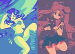 Color Palette Challenges: Sailor Moon and Lum