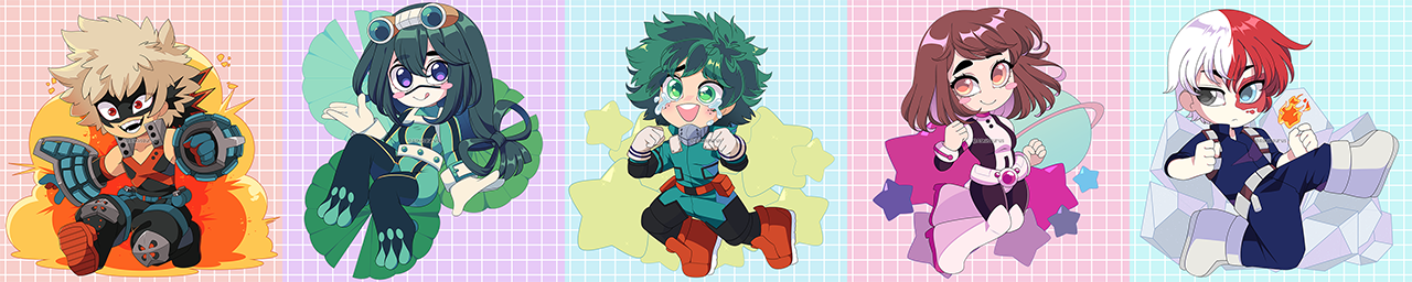 My Hero Academia Charms by QueenAshi