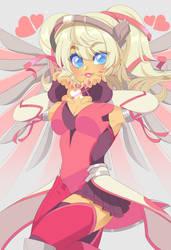 Overwatch: Pink Mercy 051118 by QueenAshi