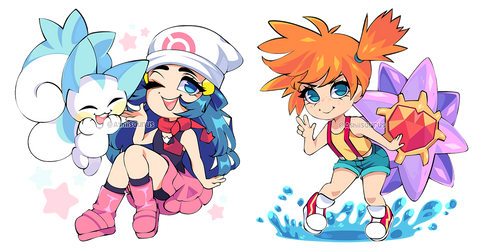 Patreon Chibis: Pokemon Day by QueenAshi