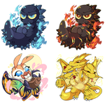Godzilla King of the Monsters Charms