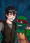 Raph and Casey Bromance - Super hype! xDD