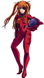 Commission - Asuka Langley (Evangelion) by AT-Studio