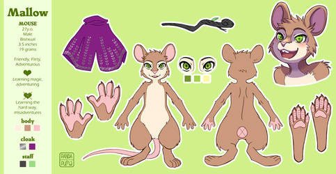 Mallow Reference Sheet - Commission by AT-Studio