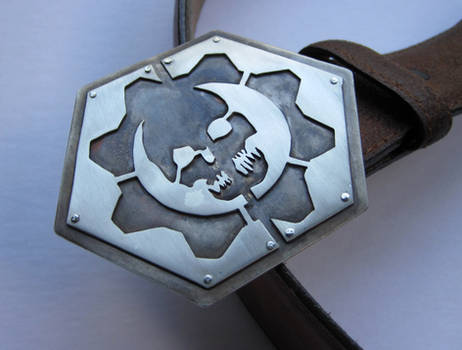 Gears of War Split COG Belt Buckle